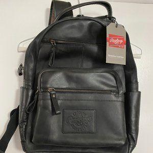 Rawlings Black Rugged 15 inch Leather Backpack